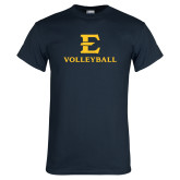 Navy T Shirt-E Volleyball