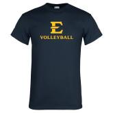Navy T Shirt-E Volleyball