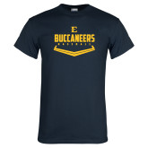 Navy T Shirt-Baseball Plate Design