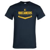 Navy T Shirt-Baseball Plate Design