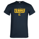 Navy T Shirt-Tennis Arrow
