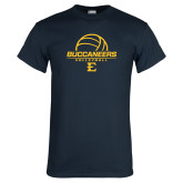Navy T Shirt-Volleyball on Top