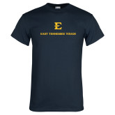 Navy T Shirt-East Tennessee Tough Stacked