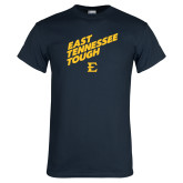 Navy T Shirt-East Tennessee Tough Slant