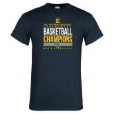 Navy T Shirt-2017 Southern Conference Tournament Mens Basketball Champions Stacked