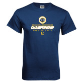 Navy T Shirt-Southern Conference Championship - Mens Golf 2017
