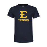 Youth Navy T Shirt-E Tennis