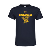 Youth Navy T Shirt-Basketball Net Design