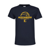 Youth Navy T Shirt-Volleyball on Top