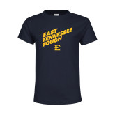Youth Navy T Shirt-East Tennessee Tough Slant
