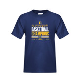 Youth Navy T Shirt-2017 Southern Conference Tournament Mens Basketball Champions Stacked
