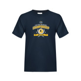Youth Navy T Shirt-2017 Southern Conference Championship - Mens Golf