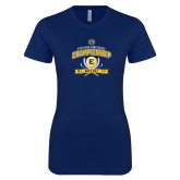 Next Level Ladies SoftStyle Junior Fitted Navy Tee-2017 Southern Conference Championship - Mens Golf
