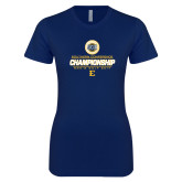 Next Level Ladies SoftStyle Junior Fitted Navy Tee-Southern Conference Championship - Mens Golf 2017