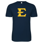 Next Level SoftStyle Navy T Shirt-E - Offical Logo