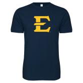 Next Level SoftStyle Navy T Shirt-E - Offical Logo
