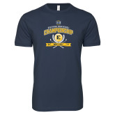 Next Level SoftStyle Navy T Shirt-2017 Southern Conference Championship - Mens Golf