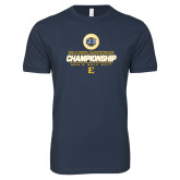 Next Level SoftStyle Navy T Shirt-Southern Conference Championship - Mens Golf 2017