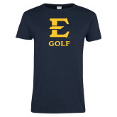 Ladies Navy T Shirt-E Golf