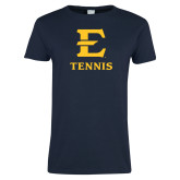 Ladies Navy T Shirt-E Tennis