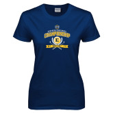 Ladies Navy T Shirt-2017 Southern Conference Championship - Mens Golf