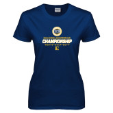 Ladies Navy T Shirt-Southern Conference Championship - Mens Golf 2017