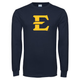 Navy Long Sleeve T Shirt-E - Offical Logo