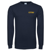 Navy Long Sleeve T Shirt-ETSU
