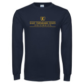 Navy Long Sleeve T Shirt-East Tennessee University - Institutional Mark