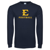 Navy Long Sleeve T Shirt-E Football