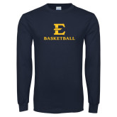 Navy Long Sleeve T Shirt-E Basketball