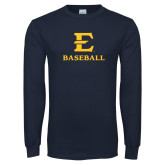 Navy Long Sleeve T Shirt-E Baseball