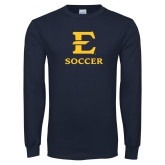 Navy Long Sleeve T Shirt-E Soccer