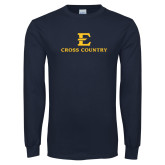 Navy Long Sleeve T Shirt-E Cross Country