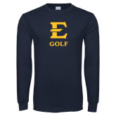 Navy Long Sleeve T Shirt-E Golf