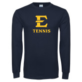 Navy Long Sleeve T Shirt-E Tennis