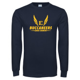 Navy Long Sleeve T Shirt-Cross Country Wings