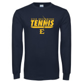 Navy Long Sleeve T Shirt-Tennis Arrow