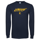 Navy Long Sleeve T Shirt-East Tennessee Tough State