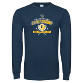 Navy Long Sleeve T Shirt-2017 Southern Conference Championship - Mens Golf