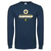 Navy Long Sleeve T Shirt-Southern Conference Championship - Mens Golf 2017