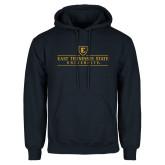 Navy Fleece Hoodie-East Tennessee University - Institutional Mark