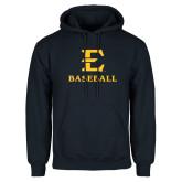 Navy Fleece Hoodie-E Baseball