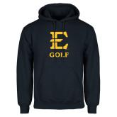 Navy Fleece Hoodie-E Golf