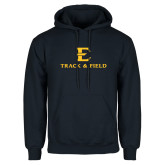 Navy Fleece Hoodie-E Track and Field