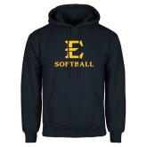 Navy Fleece Hoodie-E Softball