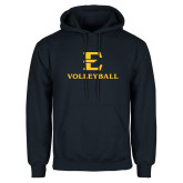 Navy Fleece Hoodie-E Volleyball