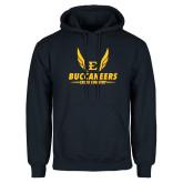 Navy Fleece Hoodie-Cross Country Wings