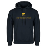 Navy Fleece Hoodie-East Tennessee Tough Stacked