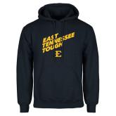 Navy Fleece Hoodie-East Tennessee Tough Slant